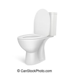 Toilet bowl isolated on a white background. Vector illustration