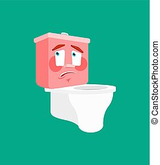 Toilet bowl oops emotion isolated. lavatory confused ...