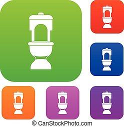 Toilet bowl set collection