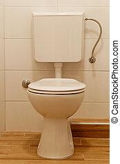 Toilet bowl - white toilet bowl and lavatory cistern
