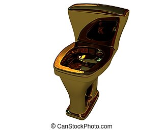 Toilet bowl - Expensive gold toilet bowl