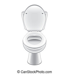 Toilet bowl isolated on white photo-realistic vector illustration