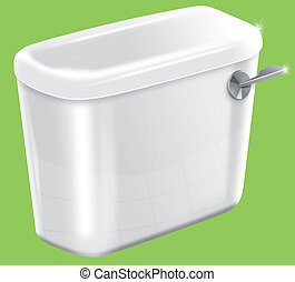 Toilet Cistern - Picture of a isolated sparkiling toilet...