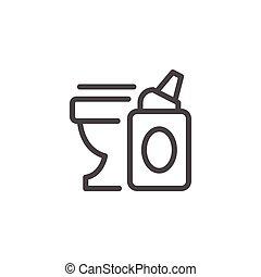 Toilet cleaner line icon