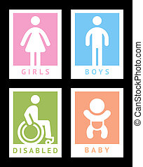 Toilet colored stickers