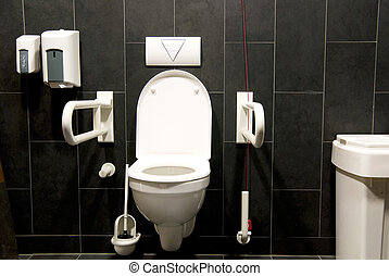 toilet disabled - powder room for disabled people