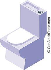 Toilet icon, isometric style - Toilet icon. Isometric of ...