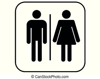 toilet icon - men and women wc sign vector -