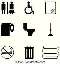 toilet icon set