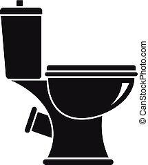 Toilet icon, simple style