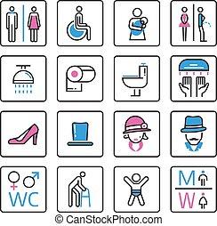 Toilet Icon- vector