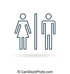 Toilet icon white background