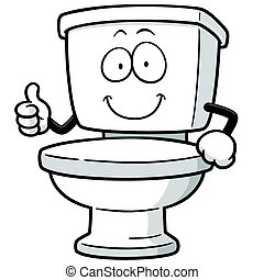Toilet - Vector Illustration of Cartoon toilet