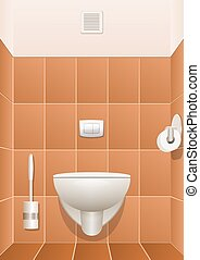 Toilet in a building interior