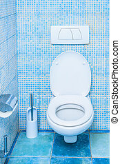 toilet in the bathroom - push the toilet room built into the...