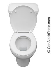White ceramic toilet isolated on a white background with clipping path.