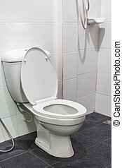 toilet kom, in, een, moderne, bathroom.
