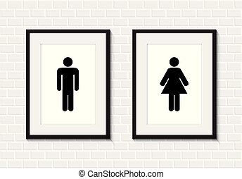 toilet men and women sign