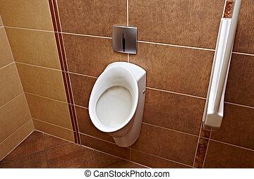 Toilet - Mens toilet urinals in a public restroom