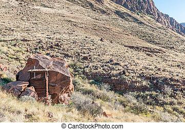 Toilet on the rim of the extinct Brukkaros volcano