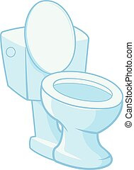 Toilet on white background. Vector illustration