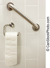 toilet paper bar - in an invalid toilet is there an bar and...