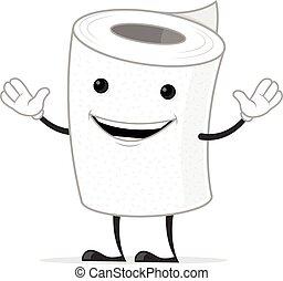 Toilet Paper - Toilet paper mascot cartoon character...