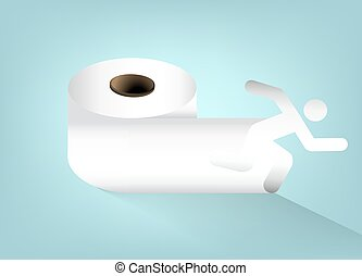 Toilet paper - A roll of toilet paper, vector art...