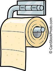 Toilet Paper - Toilet paper cartoon illustration