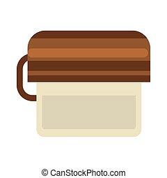 Toilet paper holder - Vector illustration of minimalistic...
