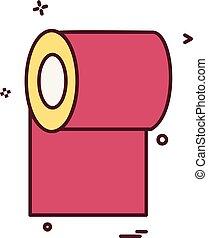 Toilet paper icon design vector