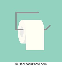 toilet paper icon- vector illustration