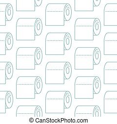 Toilet paper icon seamless pattern vector. Paper rolls background.