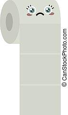 Toilet paper, illustration, vector on white background.