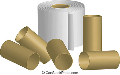 toilet paper - Vector illustration of toilet paper