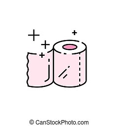 Toilet paper line icon