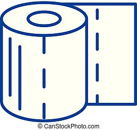 Toilet paper line icon concept. Toilet paper flat vector symbol, sign, outline illustration.
