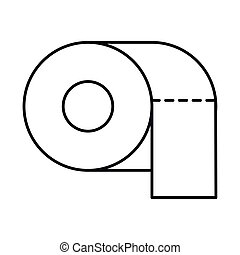 toilet paper, line style icon