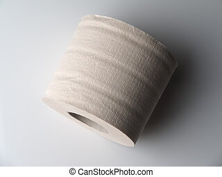 toilet paper on a light background