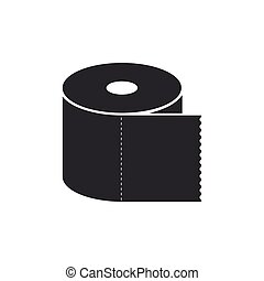 Toilet paper roll icon isolated. Flat design. Vector Illustration