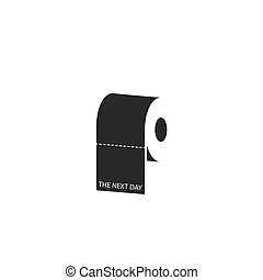 Toilet paper roll icon, youth caricature social everyday lifestyle print t-shirt concept, propaganda poster appeal