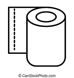 toilet paper roll line style icon
