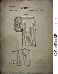 Toilet Paper Roll Patent 1891. Vintage patent artwork great ...