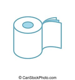 Toilet paper three layers roll icon. Symbol for packing. ...