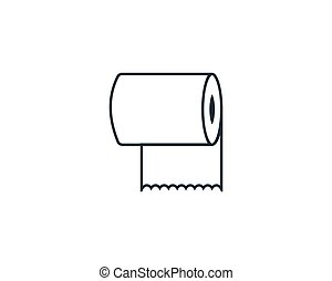 Toilet Paper, Tissue Icon Vector Logo Template Illustration ...