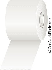 Toilet paper on a white background. Vector illustration.