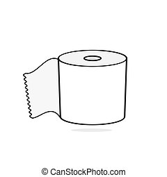 Toilet paper Vector Illustration Suitable For Greeting Card...