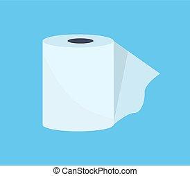 Toilet Paper Web Banner Flat Design