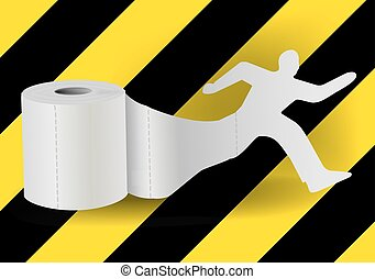 Toilet paper with running man