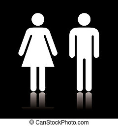 toilet, pictogram, negatief